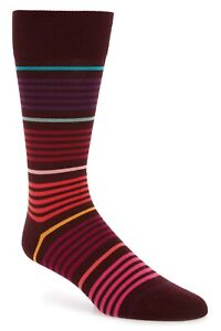 "Rare NWT Paul Smith luxe ""vita"" red gradient striped socks. Made in England."