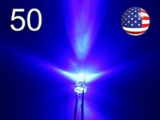 50pcs 3mm Blue Superbright LED - Water Clear Round Light Emitting Diode - DIY