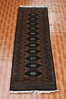 Wool Afghan Area Rug Oriental Carpet Hand Made Green Color Runner Best One 2'x6'