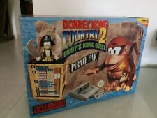 Console Snes SuperNintendo Big Box Pack Donkey Kong 2 Pirate Pack