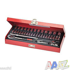 "Silverline Socket Wrench Set 1/4"" Drive Metric 38pce Mechanic Socket Set"