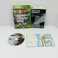 Grand Theft Auto IV Xbox 360 Video Game Complete With Manual And Map
