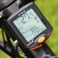 Alambre de Equipo de Montaña Bicicleta Bici Velocímetro Odómetro Ciclismo Digital Cronómetro