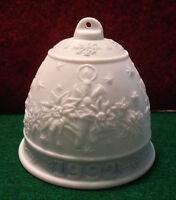 Lladro Christmas Bell 1992 Unused Original Box Ribbon Insert Spain Retired