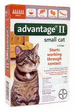Bayer Advantage Ii for Cats (Orange) | 5-9lbs | 6 doses | Repels & Kills