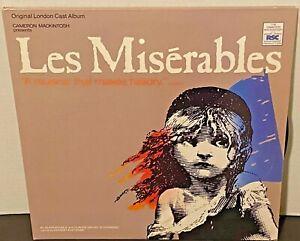 ORIGINAL LONDON CAST Les Miserables 1985 RELATIVITY 2 (X) LP EX Vinyl OG Sleeves