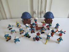 ♥♥ 20 Figurines & Deux Maisons Schtroumpfs Schleich Peyo Vintage