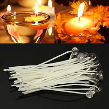Pack 100 Pre Waxed Candle Wicks for Candle Making With Sustainers - 14cm Long