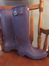 Original Hunter Tall Rain Boots In Purple Women's Size Uk 8 US 10.5 EU 40 W23499