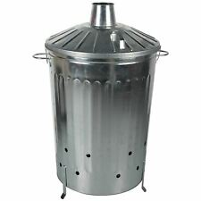 125 Litre 125L Extra Large Metal Incinerator Fire Burning Bin with Locking Lid