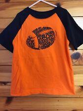 Gymboree Mix 'N' Match Raglan Football Shirt Boys EUC Orange w/Navy Top S 5-6