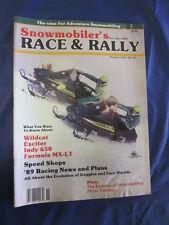 1988 Nov/Dec Race & Rally Snowmobile Magazine MX-LT Wildcat Indy 650 Exciter