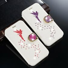 Xmas Bling Angel Glitter Magnet Leather Wallet Phone case For Samsung & iPhone