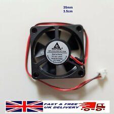 More details for new 12v 3510 35x10mm 3cm brushless cooling case fan 2pin pc printer free uk post