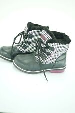08444 NEW Athletech Thermolite Warm Rubber Faux Fur Waterproof Womens Boot 7
