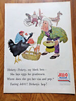 1955 Jell-o Ad Hickety Pickety My Black Hen She Lays Eggs for Gentlemen