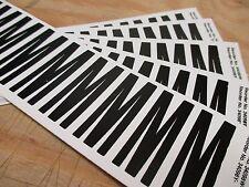Letter Label, M, 2 In. H, 2 Pk 10 Pcs (8Aj96-M1127)