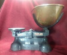 Vintage Cast Iron and Brass Scales very large with customs stamp 1956 W.T.Averie