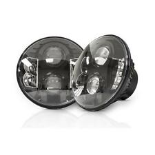 1976-2018 CJ & Jeep Wrangler Pro Comp 7 IN LED CLEAR Headlamps 76402P PAIR