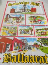 Vintage Souvenir Teatowel 'Sovereign Hill Ballarat'  Cotton Brand New & unused