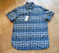 RRL Ralph Lauren SZ l Relaxed Fit Mens S/s Plaid Check camisa caballero camisa kuzrarm