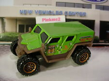 2017 RUGGED VEHICLES Design GHE-O RESCUE☆green;brown; dk orange☆☆Matchbox loose