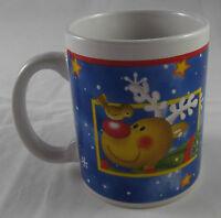 Kaffeebecher 350 ml Tasse Weihnachten 2016 Rentier Elch klassisch Blau Neu