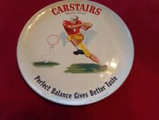 Vintage Carstairs White Seal Whiskey Advertising Plate Football Player