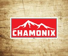 "Chamonix France Skiing Vinyl Sticker Decal  3.75"" X 1.75"" Ski Snowboarding"