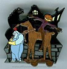 Disney Pin 42594 DLR Halloweentown 2005 Behemoth & Pumpkin King Nightmare NBC LE