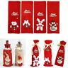 Wine Bottle Gift Cover Bag Christmas Santa Claus for Xmas Party Table Decoration