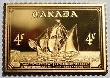1497 1949 Canada 4 Cent Newfoundland Sterling Silver Stamp Bar Franklin Mint