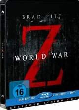 """WORLD WAR Z"" - Brad Pitt - Zombie Horror - BLU RAY STEELBOOK 3D + 2D - neu/OVP"
