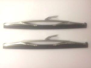"Pair of Chrome Wiper Blade MG Midget 1972 onwards GWB164 9"" Bayonet Fitting"