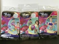 Trolls World Tours Inflatable Bundle: Beach Ball, Arm Floaties and Swim Ring NEW