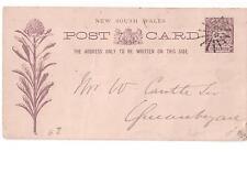 Ganzsache New South Wales Australia Auistralien 1896  Blumen Motiv