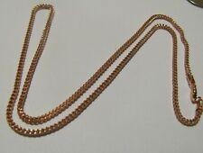 "10kt Rose Gold Men Women Hollow Franco Diamond Cut Chain Necklace 2mm 20"" 5.9g"