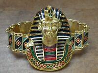 Super bracelet bijoux rétro Egypte pharaon couleur or rhodié émail qualité 102