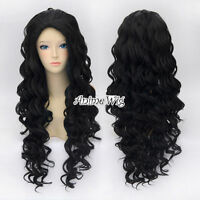 Hot Lolita 80cm Long Curly Black Stylish Women  Anime Cosplay Hair Full Wig Gift