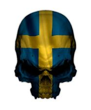 Swedish Flag Skull Decal - Sweden Country Sticker Graphic