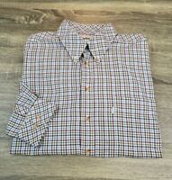 Barbour Long Sleeve Button-Front Shirt Mens Size XL Multi-Colored Checks