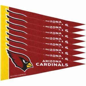 Arizona Cardinals NFL 4x9 Mini PENNANT Banner Flag Set (8) FREE US SHIPPING