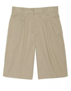 Boy's FRENCH TOAST KHAKI PLEATED TWILL SHORTS Size 7 NWT