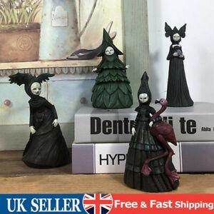 Halloween Creepy Witch Statue Sculpture Party Garden Patio Table Decor Ornaments