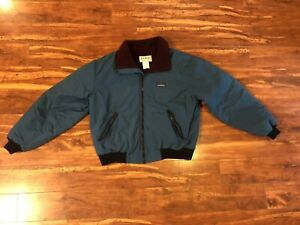 Vintage 90s L.L. Bean Fleece Lined Warm-Up Jacket Made in USA Men's Medium