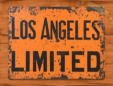 "TIN-UPS TIN Sign ""Los Angeles Limited"" Vintage Restaurant Beer Store California"