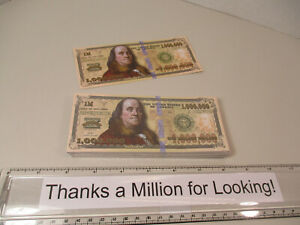 Package of (100) One Million Dollar Bill Gospel Tract, Pack, $1,000,000 Tracts