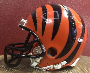 NFL Throwback Cincinnati Bengals Riddell Mini  Football Helmet & Facemask
