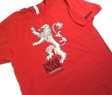 Game Of Thrones Lannister XL TShirt Red Lion Hear Me Roar Short Sleeve New *4Y