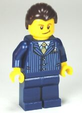 LEGO City - Business Man Pinstriped Jacket & Gold Tie - Minifigure / Mini Fig